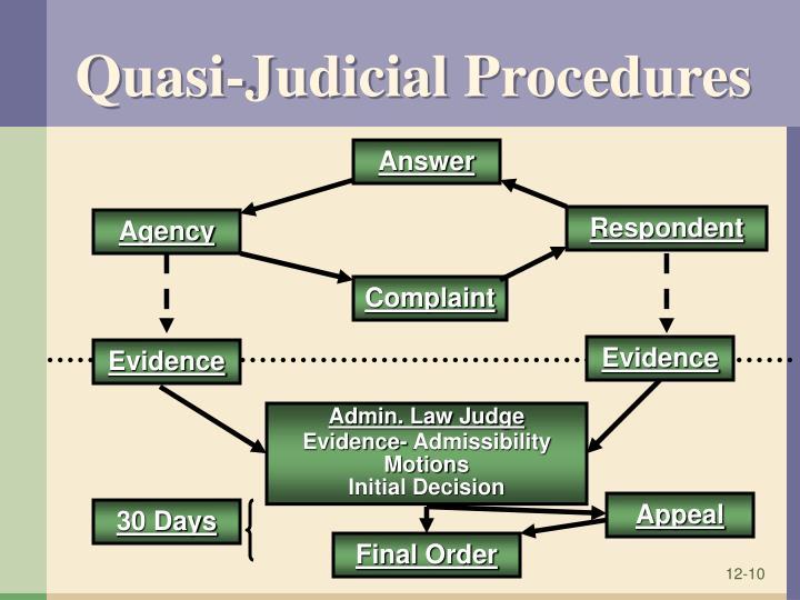 Quasi-Judicial Procedures