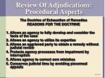 review of adjudications procedural aspects1