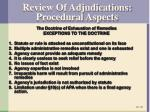 review of adjudications procedural aspects2