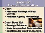 review of factual determinations