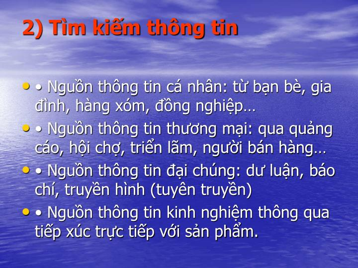 2) Tm kim thng tin