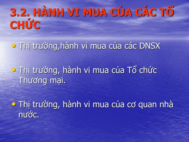 3.2. HNH VI MUA CA CC T CHC