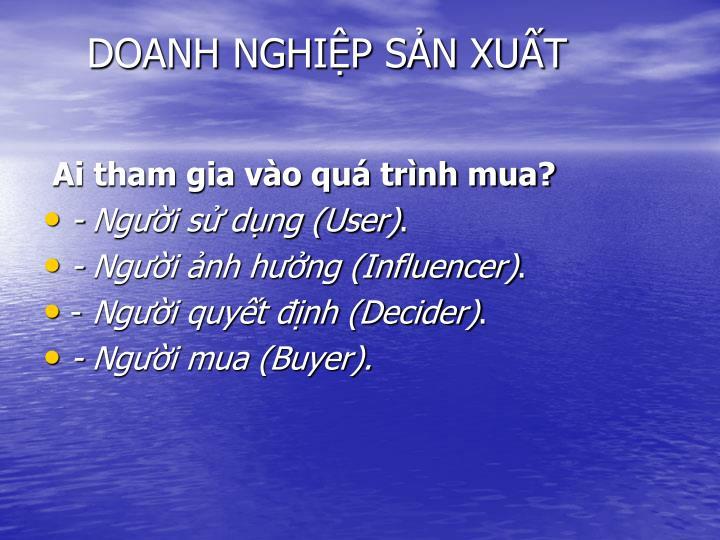 DOANH NGHIP SN XUT