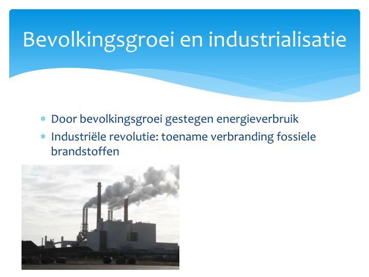 Bevolkingsgroei en industrialisatie