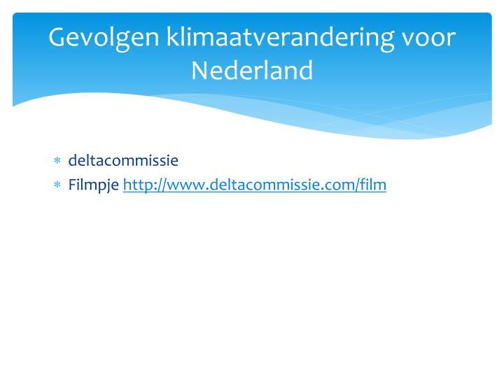 Gevolgen klimaatverandering voor Nederland