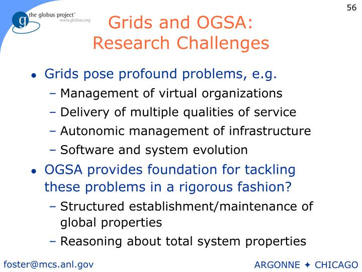 Grids and OGSA: