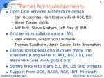 partial acknowledgements