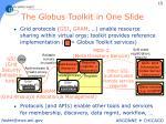 the globus toolkit in one slide