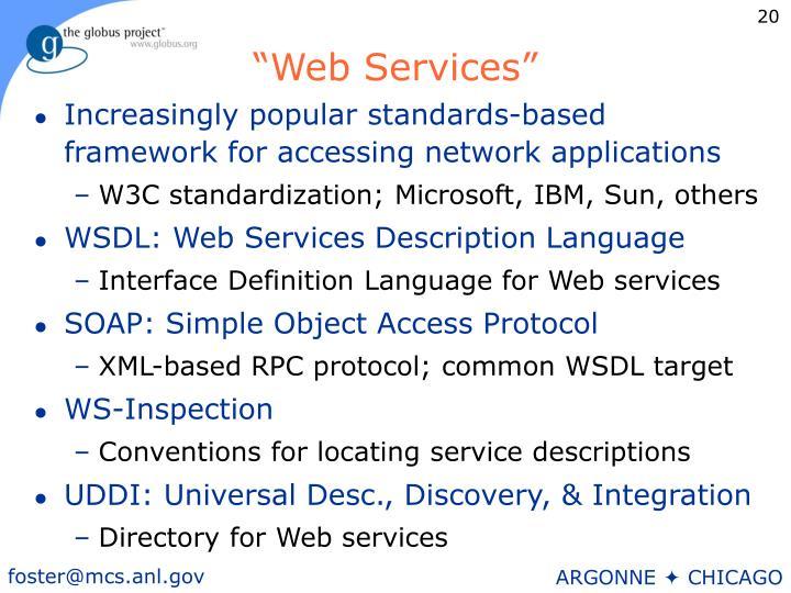 """""""Web Services"""""""