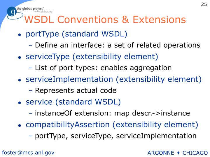 WSDL Conventions & Extensions