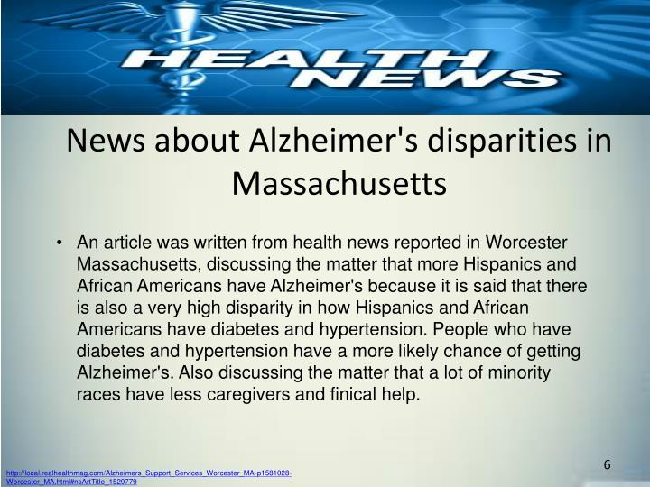 News about Alzheimer's disparities in Massachusetts