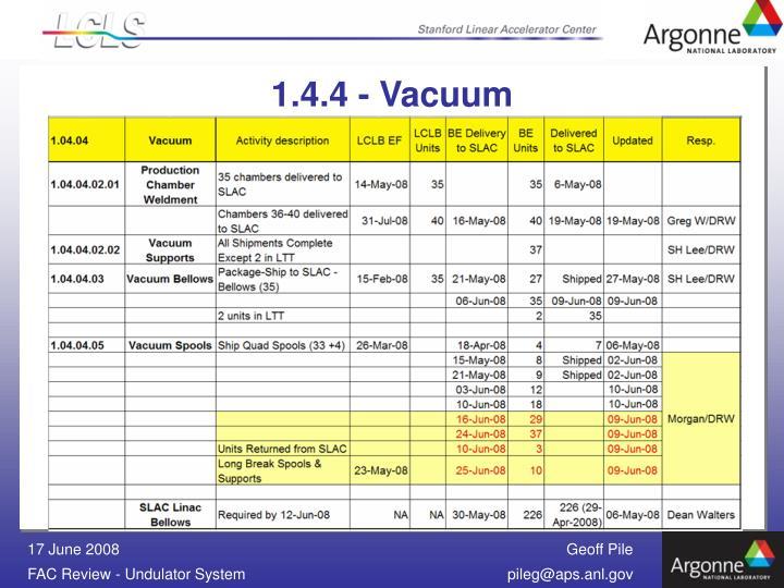 1.4.4 - Vacuum