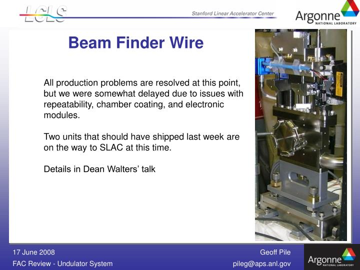 Beam Finder Wire
