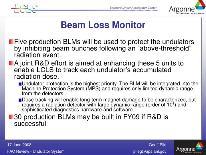 Beam Loss Monitor