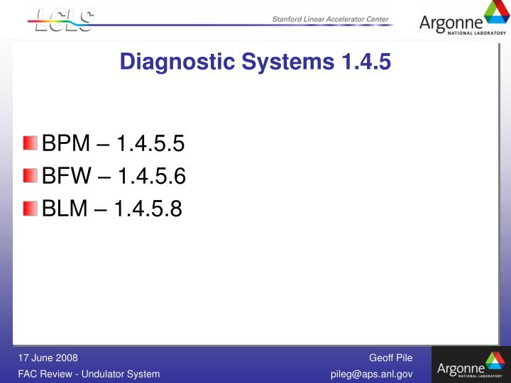 Diagnostic Systems 1.4.5