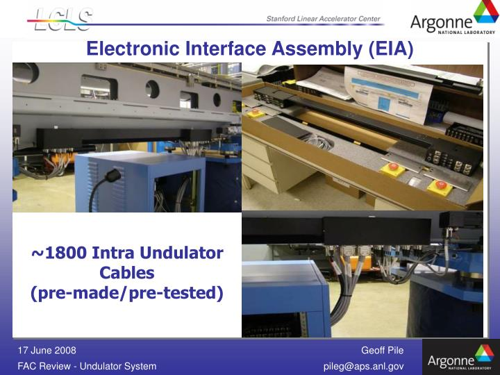 Electronic Interface Assembly (EIA)