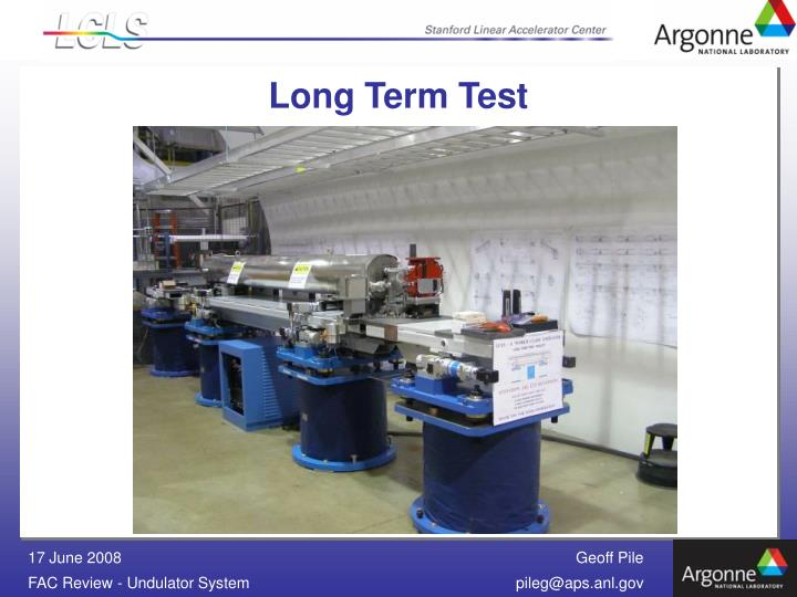 Long Term Test