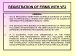 registration of firms with vfj