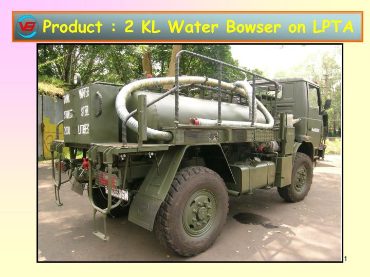 Product : 2 KL Water Bowser on LPTA