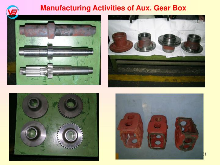 Manufacturing Activities of Aux. Gear Box