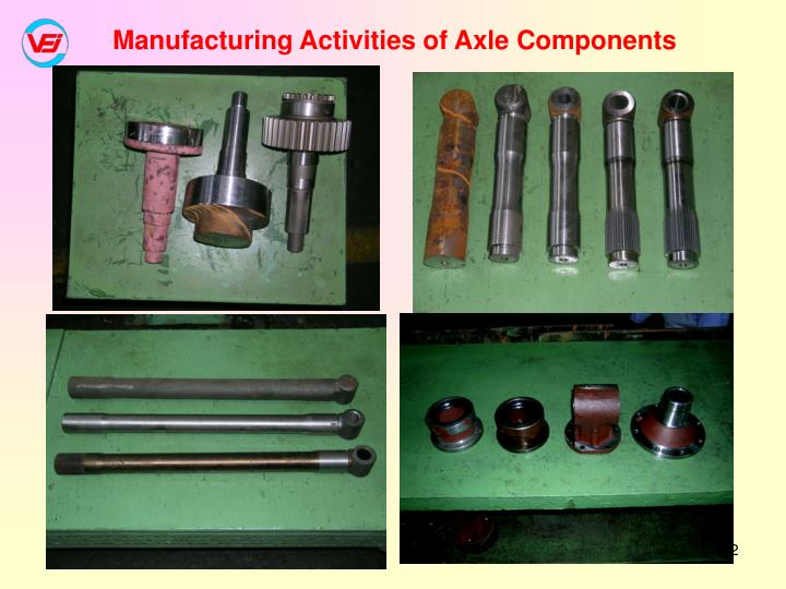 Manufacturing Activities of Axle Components