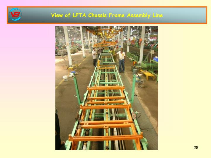 View of LPTA Chassis Frame Assembly Line