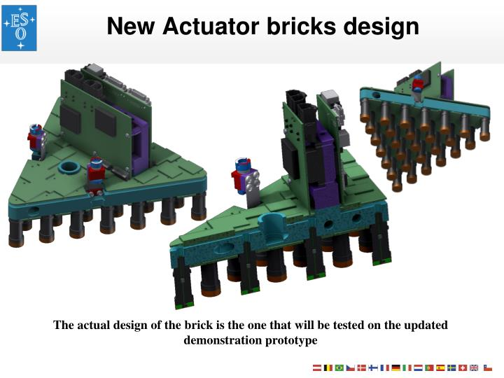 New Actuator bricks design