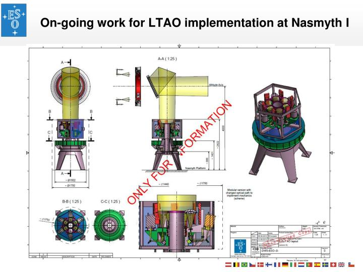 On-going work for LTAO implementation at Nasmyth I