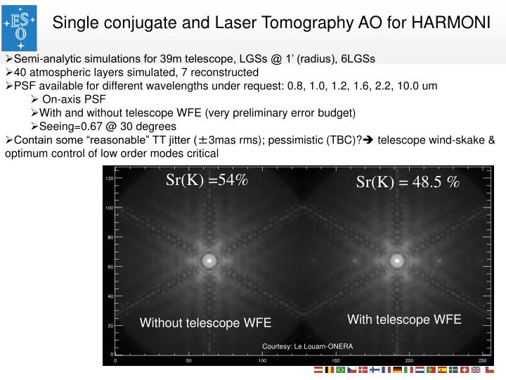 Single conjugate and Laser Tomography AO for HARMONI