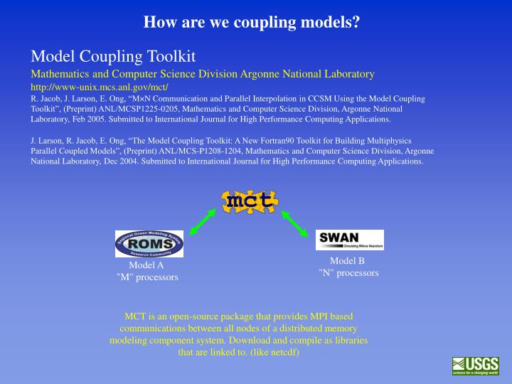 How are we coupling models?