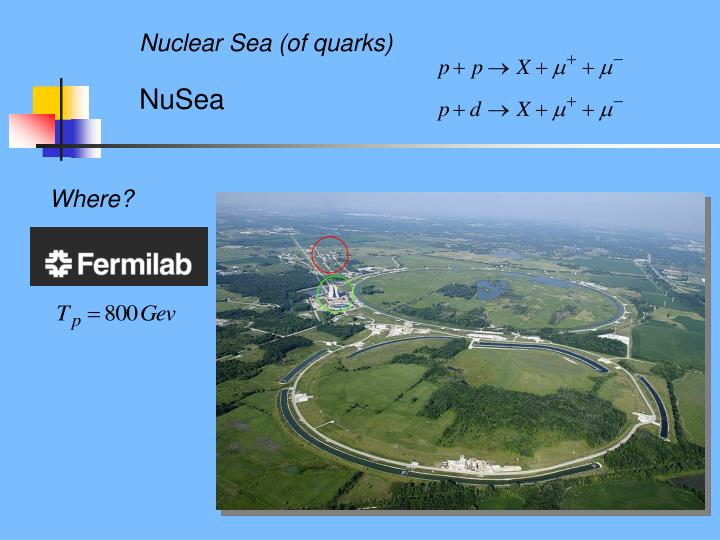 Nuclear Sea (of quarks)