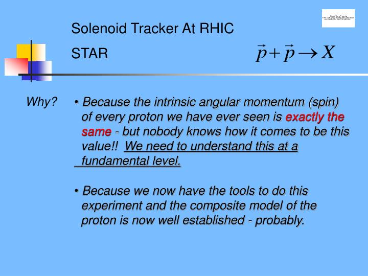 Solenoid Tracker At RHIC