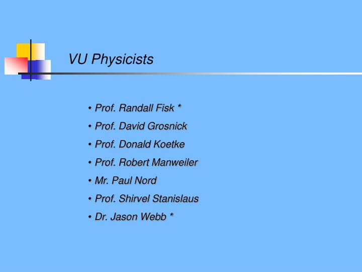 VU Physicists