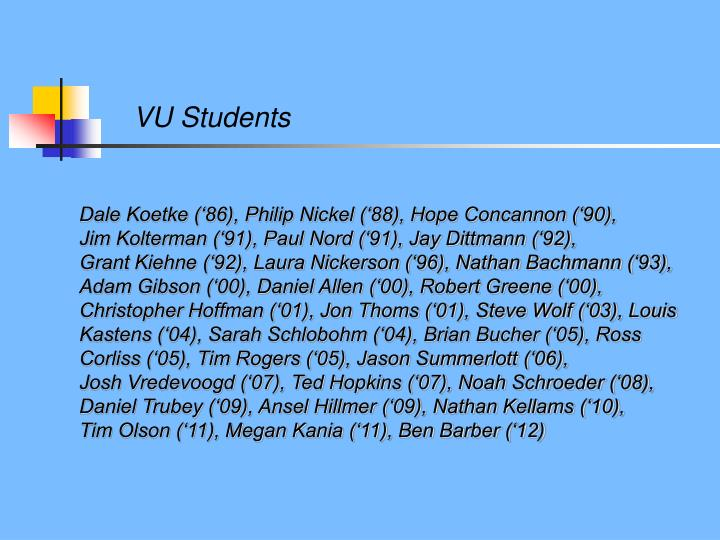 VU Students