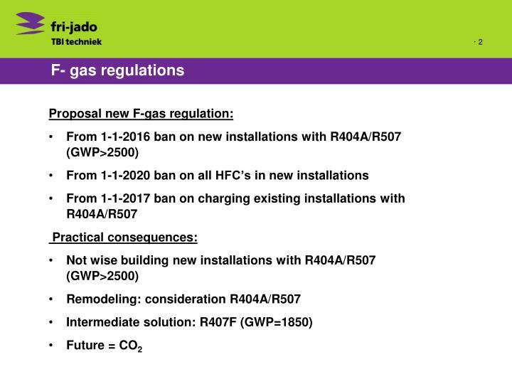 F- gas regulations