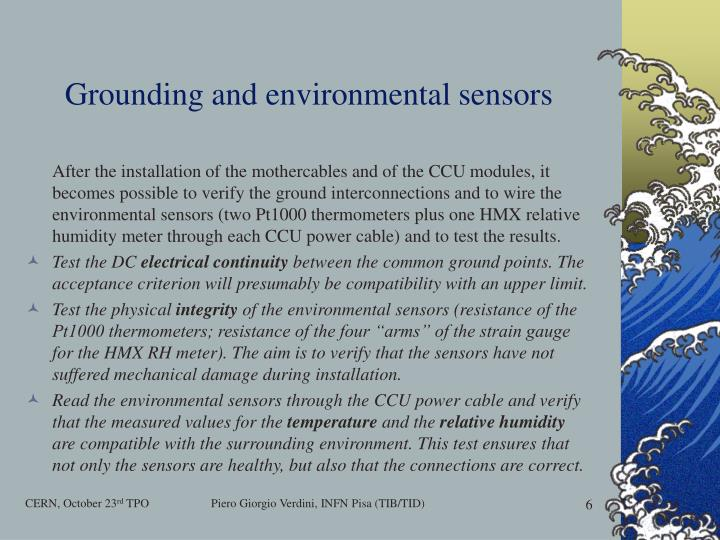 Grounding and environmental sensors