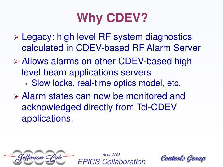 Why CDEV?
