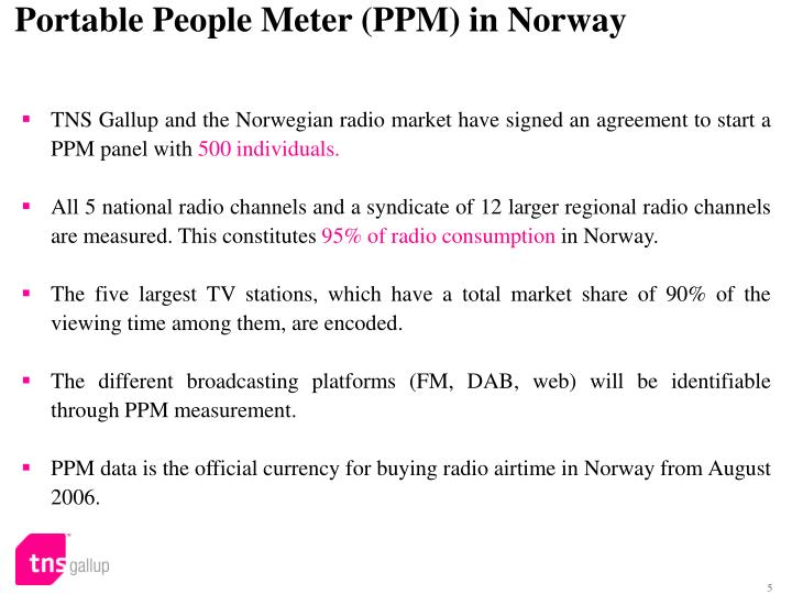 Portable People Meter (PPM) in Norway