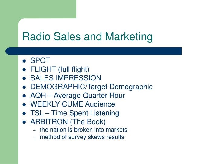 Radio Sales and Marketing