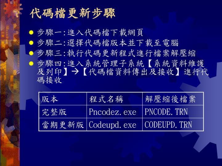 代碼檔更新步驟