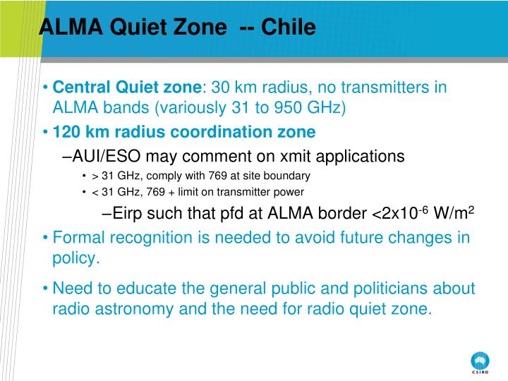 ALMA Quiet Zone  -- Chile