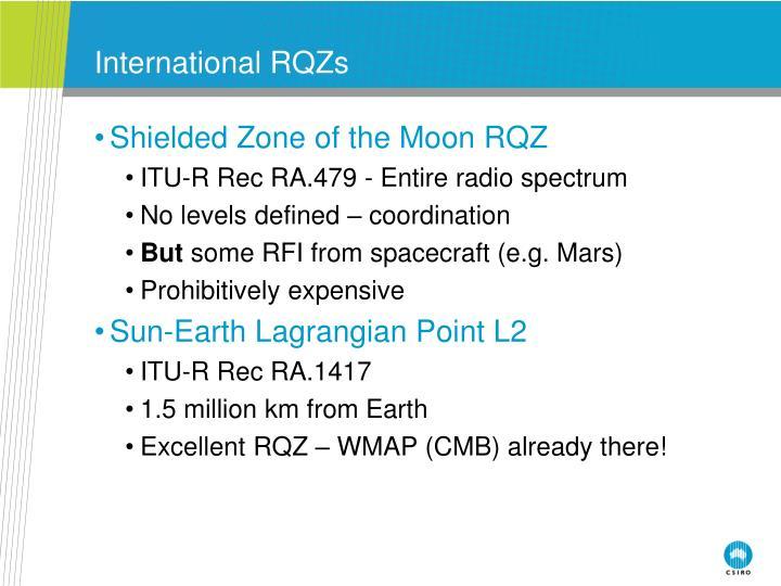 International RQZs