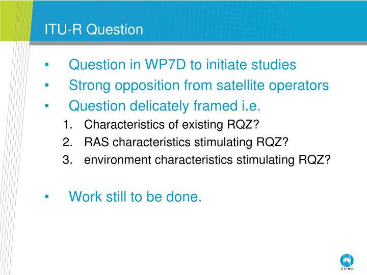 ITU-R Question