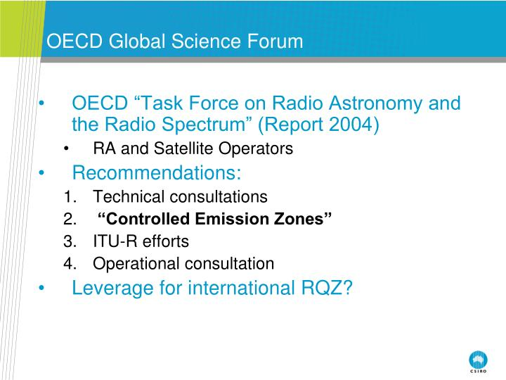 OECD Global Science Forum