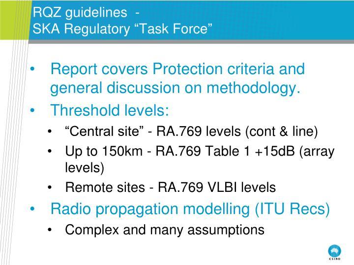 RQZ guidelines  -