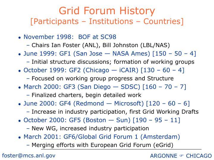 Grid Forum History