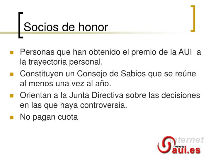 Socios de honor