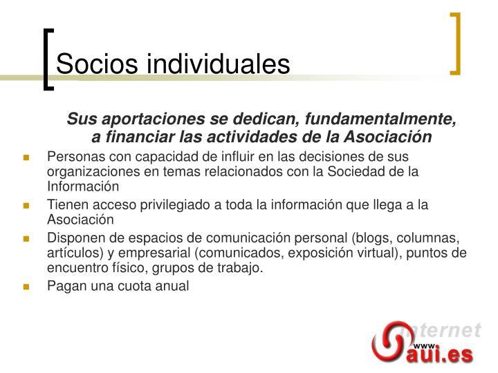 Socios individuales