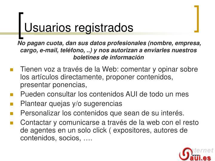 Usuarios registrados
