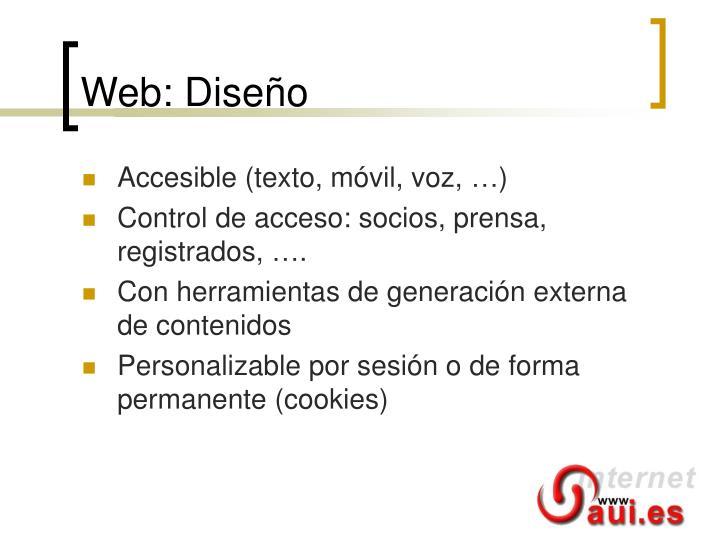 Web: Diseño